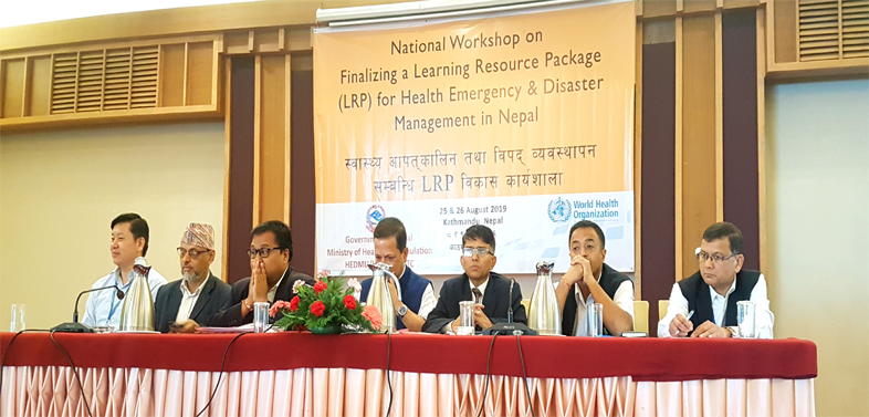 National Facilitators Workshop and Training on Standardized Learning Resource Package (LRP) for Health Emergency and Disaster Management in Nepal
